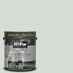 BEHR Premium Plus Ultra 1-gal. #700E-2 LIME LIGHT Semi-Gloss Enamel Interior Paint-375001~`For the bathroom