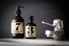 Terrible Twins - Sweden: Hand Soap in No.7 Flowers and Bath Oil in No.3 Pomegranate - all natural bath products and candles - handmade in Sweden