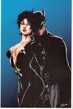 Batman and Catwoman by Damon Bowie Catwoman Y Batman, Catwoman Cosplay, I Am Batman, Batgirl, Batman Stuff, Comic Books Art, Comic Art, Nananana Batman, Catwoman Selina Kyle