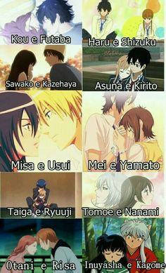 When you almost have watched every single shoujo anime and you need more:) Otaku Anime, Anime Naruto, Anime Shojo, Anime Kawaii, Anime Manga, Anime Couples Drawings, Cute Anime Couples, Futaba Y Kou, Best Romance Anime