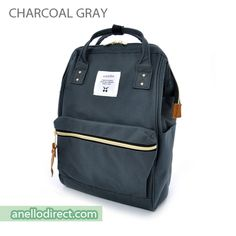 7405a8b2133b Anello Polyester Canvas Backpack Rucksack Mini Size AT-B0197B Charcoal Gray  Japan Original Official Authentic Real Genuine Bag Free Shipping Worldwide  ...