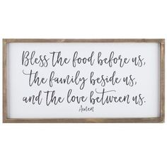 Bless The Food Wood Wall Decor. Hobby lobby have some of the best signs/saying....
