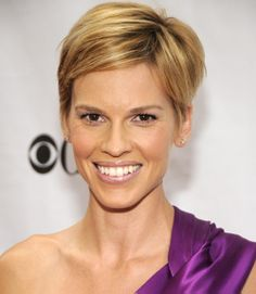 Short Pixie Hairstyles - Hillary Swank. I need to check out the link on GH mag...