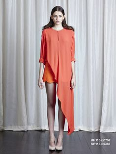 Semi sleeve asymmetrical blouse by Khoon Hooi from the spring/summer 15 collection exclusively on betosee.com HAVE LOOK : http://www.betosee.com/product/28708/44202 #trends #Womenswear #SS15