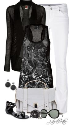 """""""Black and White (I)"""" by partywithgatsby ❤ liked on Polyvore"""