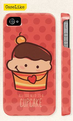 3D #iPhone 5 #Case  Lovely #Cute #Cupcake On Polka dot by #caselike, $22.00
