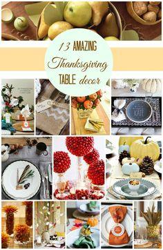 13 Amazing #Thanksgiving Table Decor… Great ideas! #home #DIY #decor