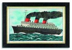 "Robert Young Antiques - Collection. ""The Queen Mary"" #FolkArt"