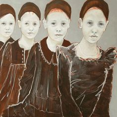 Edith Snoek Face Art, Art Faces, Surreal Artwork, Artist Names, White Art, Color Themes, Contemporary Artists, Drawings, Illustration