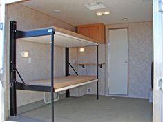 Teardrop Camper Trailer, Cargo Trailer Camper, Trailer Build, Utility Trailer, Cargo Trailer Conversion, Enclosed Trailer Camper Conversion, Toy Hauler Camper, Cabin Bunk Beds, 6x12 Enclosed Trailer