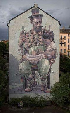 Best Graffiti & Amazing Street Art - Aryz in Oslo, Norway 2013