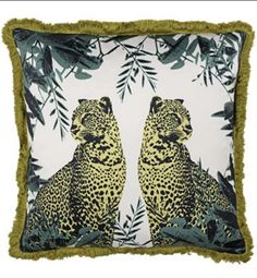 Add the African jungle to your interior with this Leopard printed design. For all you animal lovers - this cushion will be sure to catch everyone's attention.Dimensions: Made of Polyester, making this cushion African Jungle, Animal Cushions, Printed Cushions, French Furniture, Soft Furnishings, Decoration, Cushion Covers, Animals Beautiful, Teal