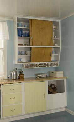 Kjøkkenet i hovedbygning fra Stiklestad vestre Nf Nf, Bathroom Medicine Cabinet, Cube, Walls, Storage, Furniture, Beauty, Ideas, Home Decor