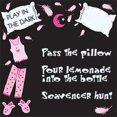 Girls' Slumber Party Games