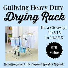 How to Dry Clothes when you don't have power #GIVEAWAY
