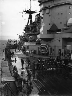 Detail close-up of HMS Rodney (29) Nelson-class battleships of the British Royal Navy. #2/2