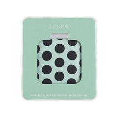@J.Crew Back-Up Phone Battery. Comes In a Variety Of Fun Prints!