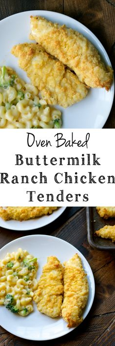 Crispy baked Buttermilk Ranch Chicken Tenders are the perfect dinner packed with flavor!