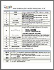 gmail cheat sheet   1 Awesome Gmail tip You Don't Know about. Seriously.