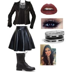 Evil Emma from Every Witch Way by keeannesteele on Polyvore featuring polyvore fashion style H&M Balenciaga MSGM GUESS