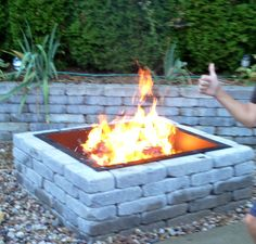 DIY #firepit. Beautiful and super easy to do. It took us only an hour!