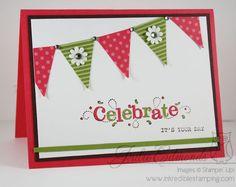 Celebrate Banner Card by InkyFingrz - Cards and Paper Crafts at Splitcoaststampers