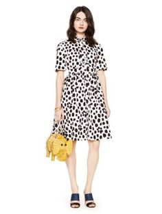 madison ave. collection wild dots aria dress - kate spade new york