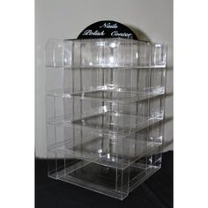 Nail Polish Table Rack Display (Hold Up To 144 Bottles) Spinable