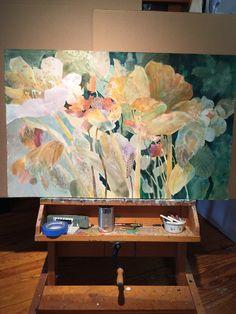 Original Watercolor painting :floral 26x40 for more information please visit Www.dorothyganek.com