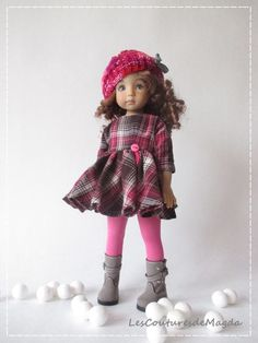 "Outfit for doll 13"" Effner Little Darling Effner, tenue de poupée Chéries, Magda"