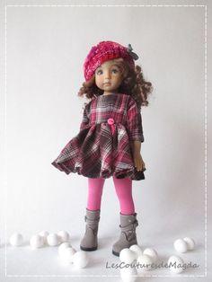 """Outfit for doll 13"""" Effner Little Darling Effner, tenue de poupée Chéries, Magda"""