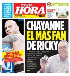 En portada: Chayanne es el más fan de Ricky Rosselló...