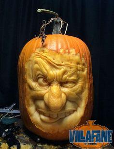 Villafane Studios :: Gallery of carved pumpkins