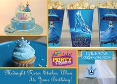 It's Your Birthday, Happy Birthday, Birthday Cake, Special Day, Cinderella, Shoe, Children, Party, Desserts