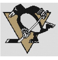 Counted Cross Stitch Pattern Pittsburgh Penguins NHL by dueamici