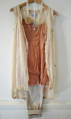 VEST TOP: Elisa Cavaletti, £69.95 BLOUSE: Elisa Cavaletti, £159.95 TROUSERS: Inwear, £74.95 NECKLACE: Noa Noa, £25