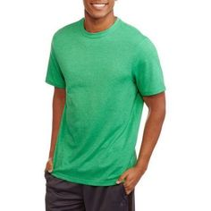Athletic Works Men's Active Tee, Size: Small, Green