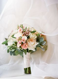 Romantic, Peachy Wedding Bouquet | Brides.com