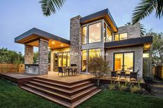 Rustic Modern Home Design never go out of types. Rustic Modern Home Design is usually ornamented in many approaches each home furniture decided on declare a Modern Prefab Homes, Prefabricated Houses, Casas Containers, Modern Exterior, Stone Exterior, Modern Garage, Stone Facade, Rustic Exterior, Stone Cladding