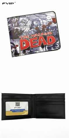 [Visit to Buy] FVIP The AMC Movie The Walking Dead Short Wallets With Card Holder Photo Holder Men And Women Cool Purse  #Advertisement
