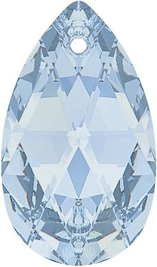 #6106 Pear Pendant in Crystal Blue Shade
