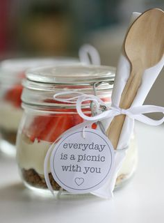 no-bake cheesecake in a jar - prepared in little jars, the delightfully creamy filling can be whipped up in minutes, layered over crunchy granola and ready to eat after an hour in the freezer ... Yuppiechef