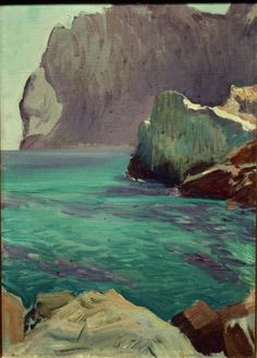 San Vicente cape by Joaquin Sorolla y Bastida - Reproduction Oil Painting Landscape Art, Landscape Paintings, Oil Paintings, Oil Painting Techniques, Drawing For Beginners, Spanish Artists, Wow Art, Painting Inspiration, Painting & Drawing