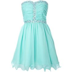 Aqua Chiffon Gem Dress ($57) ❤ liked on Polyvore featuring dresses, vestidos, robe, short dresses, chiffon dress, chiffon mini dress, aqua blue dress, blue chiffon dress and short blue cocktail dresses