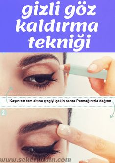Tips and Tricks for Beauty Makeup - To create the illusion of a higher brow belt, eyebrow …. Peachy Eyeshadow, Simple Eyeshadow, Red Lipstick Makeup, Nude Makeup, Day Makeup, Eyeliner Makeup, Makeup Tips, Make Up Tools, Beauty Makeup