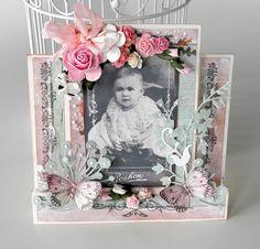 Stempelglede :: Design Team Blog:  Handmade card. Rubber stamp used for this project: Vintage Baby stamp set. 2014 © Pia Baunsgaard