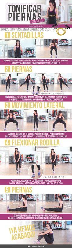 inforgrafías ejercicios para piernas