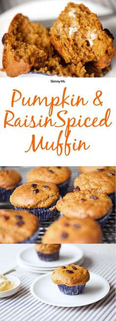 These Pumpkin and Raisin Spiced Muffins are a delicious breakfast treat without all the calories.