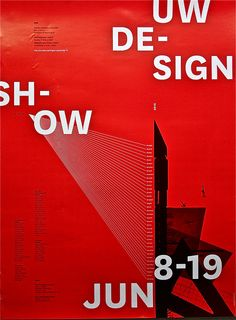 poster | University of Washington Design Show  #typography