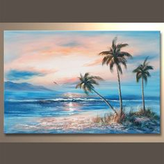 Seascape Paintings, Landscape Paintings, Watercolor Landscape, Watercolor Paintings, Beach Landscape, Pastel Art, Ocean Art, Beach Art, Beautiful Paintings